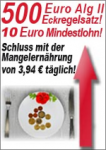 Kampagne <br/>Regelsatz <br/>500 Euro