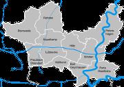 Ortschaften und Weser im <br/>Kreis Minden-L�bbecke