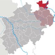 Lage: Ecke rechts oben in <br/>Nordrhein-Westfalen