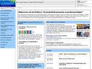 Webseite 'Gesundheitliche <br/>Chancengleichheit'